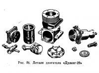 Рис. 86. Детали двигателя «Дулинг-29»