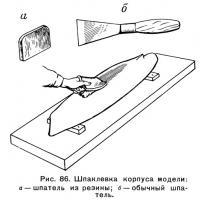 Рис. 86. Шпаклевка корпуса модели