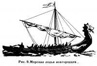 Рис. 9. Морская лодья новгородцев