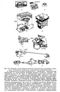 Рис. 9.12. Примеры исполнительных механизмов заводского изготовления