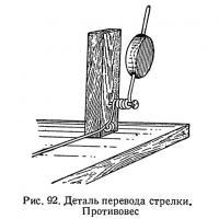 Рис. 92. Деталь перевода стрелки. Противовес