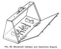 Рис. 93. Фанерный чемодан для переноски модели