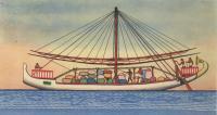 Рисунок древнего египетского судна
