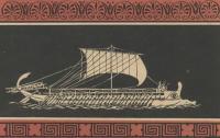 Рисунок греческой триремы